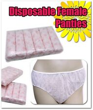 60 PCS Disposable non woven women Ladies Female paper Panties Brief Underwear 09