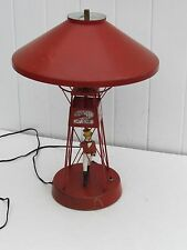 VINTAGE JOHNNY WALKER SCOTCH BUOY LAMP JOHNNY WALKER RED NO ARMS BUOY LAMP