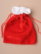 12 medium CHRISTMAS RED VELVET GIFT BAG JEWELLERY SANTA SACK 0317 SWEETS POUCH