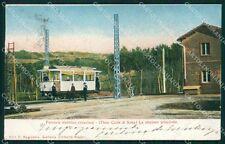 Napoli Ferrovia Elettrica Vesuviana Tram cartolina XB3754