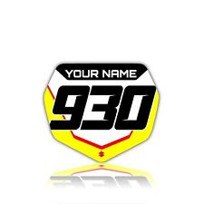 2005 2006 SUZUKI RMZ 450 FRONT NUMBER PLATE GRAPHIC RMZ450 FRONT NUMBER BOARD