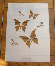 Butterflies & Bees Stencil Mask Reusable Mylar Sheet for Arts & Crafts