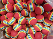 50 pcs JL Golf Foam practice balls. BRAND NEW. Rainbow