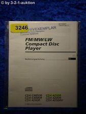 Sony Bedienungsanleitung CDX 4250R 4240R 4250RV C4850R C4840R 4260R (#3246)