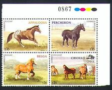 Uruguay 2006 Horses/Animals/Nature/Transport/Working 4v blk (n33672)