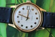 MEN'S VINTAGE GOLD-PLATED MECHANICAL RUSSIAN VOSTOK N.O.S. WATCH 18 JEWELS!