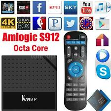 KM8P Android 6.0 Smart TV BOX Amlogic S912 Octa Core Player WIFI VP9 4K Movie