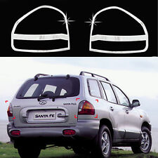 Chrome Rear Tail Light Lamp Molding Trim Cover for 01-04 Hyundai Santa Fe