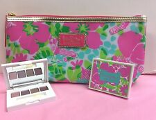 Estee Lauder Lilly Pulitzer Cosmetic Bag + Pure Color EyeShadow   MANY HERE