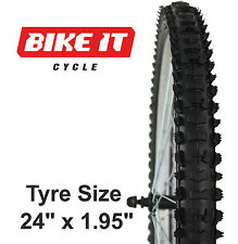 "NEW ECONOMY CHILDRENS CYCLE TYRE 24"" x 1.95"" KNOBBLY MTB BIKE BICYCLE CYCLE TIRE"