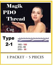 "5 pieces COG Type 2-1, 19GX100mm, ""Magik"" PDO Thread Anti-Aging Lift FACE"