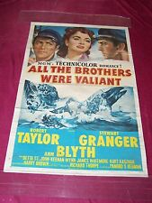 "1953 MGM OS Movie Poster-"" ALL THE BROTHERS WERE VALIANT! ""Rob Taylor-Ann Blythe"