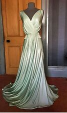BEAUTIFUL BIBA LONG MINT GREEN GRECIAN EVENING DRESS, SIZE 18