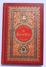 Jules VERNE Le Rayon Vert. HETZEL 1890. Cartonnage aux initiales.