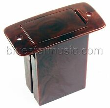 B-Band 9-Volt Vertical Mount Guitar 9V Battery Box, Woodgrain with Screws NEW!