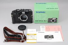 "#1422 ""Mint in Box"" Voigtlander Bessa R2 35mm Film Camera w/Side-Grip from JAPAN"
