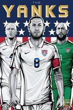 POSTER USA AMERICA THE YANKS MICHAEL BRADLEY MONDIALI BRASILE 2014 FOOTBALL FOTO