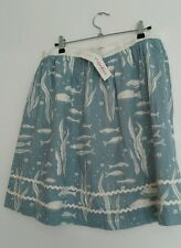 CATH KIDSTON River Fish skirt size L lined with pockets --BRAND NEW WITH TAGS--