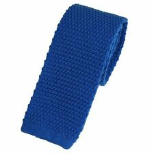 Men's Plain Royal Blue Wool Knitted Tie (U102/38)