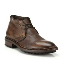 "$395+Tax To Boot New York ""Clemmons"" Deerskin Chukka Boots, Brown 10"