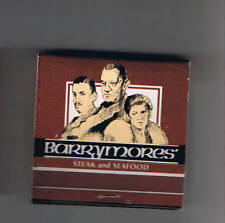Bally's Hotel Casino Barrymores' Restaurant Unused Matchbook Las Vegas