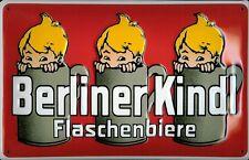 Blechschild Berliner Kindl Flaschenbiere rot Bier retro Reklame Schild Nostalgie