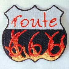 DEVIL ROUTE 666 SIGN EMBROIDERED PATCH P198 iron on sew CLOTH JACKET patches NEW