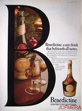 Vintage 1976/77 'D.O.M.' Benedictine Liquor Advert - Original Print AD
