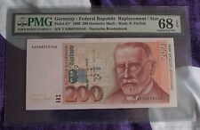 P47* 1996 Federal Republic Germany 200DM YA9989101G6 PMG 68 Superb EPQ GEM UNC