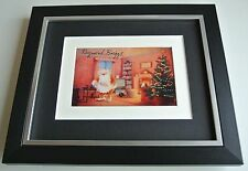 Raymond Briggs SIGNED 10x8 FRAMED Photo Autograph Display Father Christmas & COA