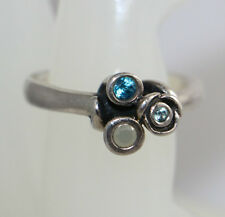 Authentic Pandora Blue Topaz  Ring Retired- PRELOVED