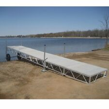 24' foot Aluminum Roll In outdoor portable Boat wood Dock With poly Decking