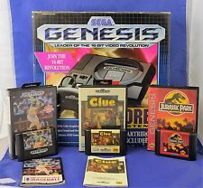 Sega Genesis Black Console - Model 1 - Complete in Box - Includes 3 Games CIB