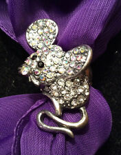 NEW Mouse Expandable Band Bling Ring/Scarf Ornament