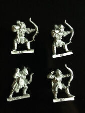 Warhammer Lord of The Rings LOTR - 4x Classic Orc Bowmen Metal OOP