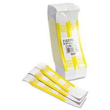 Self-Adhesive Currency Straps, Yellow, $1,000 in $10 Bills, 1000 Bands/Pack