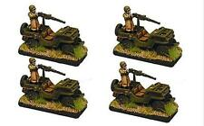 Forjado En Batalla nos Jeep Platoon.50 Cal Mg X 4 vehículos 15mm 1/100 Flames of War