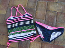 JESSICA SIMPSON Tankini Swimsuit Girls sz 5 NWT Stripes & Dots $34.00