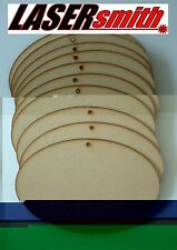 Pack of 10 MDF Blank Oval Door Plaques for Signs & Craft, 200mm wide