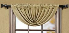New Primitive French Country BURLAP WINDOW BALLOON VALANCE Swag Curtains