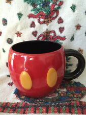 Disney Mug Mickey Mouse Red Pants Yellow Buttons Coffee Cup
