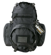 Army Combat Military Rucksack Vulcan Travel Backpack Bag Back Day Pack 22L Black