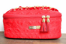 MARY KAY BRIGHT RED QUILTED TASSEL MAKEUP PURSE ZIP CASE POUCH COSMETIC BAG