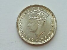 Coin - 1 pc. AU 1939 MALAYA GEORGE VI 10 CENTS SILVER COINS (#79)