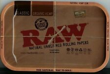 """RAW Papers Brand Vintage Style METAL Cigarette Rolling Tray 7""""x11"""" NEW FREE SHIP"""