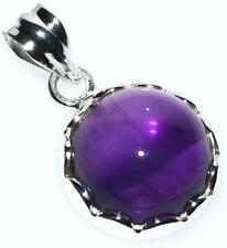 Purple Amethyst Sterling Silver Pendant, Solitaire Natural Gemstone 925 Jewelry