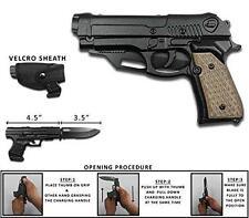 Rogue River Tactical Beige Black Holster Pistol Gun Spring Assisted Pocket Knife
