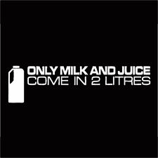 Funny Only Milk & Juice Car Sticker Decal For Jdm Illest Drift Hoon