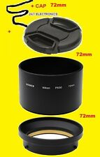 LENS ADAPTER TUBE +LENS CAP 72mm TO-  DIGITAL CAMERA NIKON COOLPIX P90 72 mm