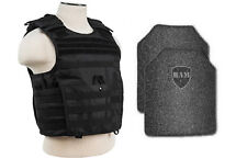 Body Armor   Bullet Proof Vest   AR500 Steel Plates   Base Frag Coating- EXP BLK